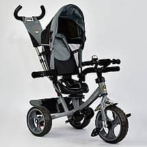 Велосипед трехколесный с поворотным сиденьем Best Trike 5700 – 3430 (темно-серый) колеса пена, фото 3