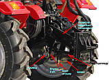 Почвофреза с редуктором для мототрактора DW150RX, фото 7