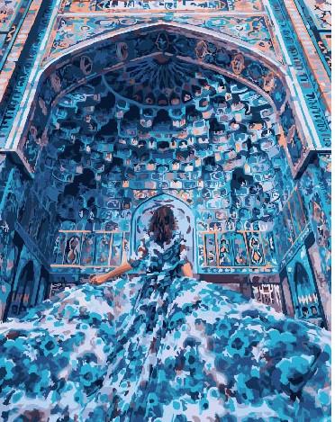 Картина по номерам Девушка в безмятежной фреске, 40x50 см., Brushme