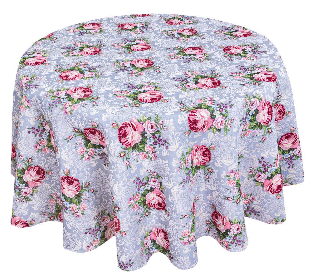 Скатерть тканевая гобеленовая пасхальная круглая Ø180 см на круглый стол