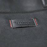 Сумка портфель из натуральной кожи Конг VS008 black, 34х25х8, фото 6