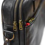 Сумка портфель из натуральной кожи Конг VS008 black, 34х25х8, фото 5