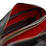 Сумка портфель из натуральной кожи Конг VS008 black, 34х25х8, фото 7