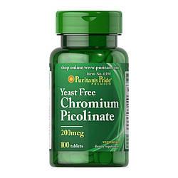 Жиросжигатель Puritan's Pride Chromium Picolinate 500 mcg 100 tabs