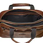 Сумка портфель из натуральной кожи Конг VS008 dark brown, 34х25х8, фото 4