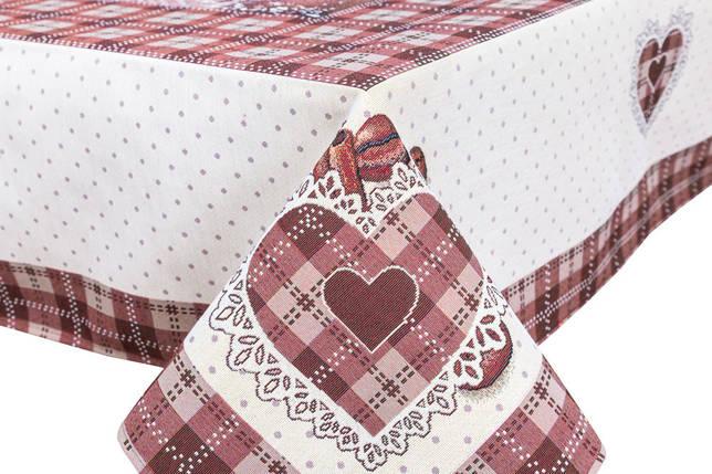 Скатерть тканевая гобеленовая пасхальная квадратная 137 х 137 см, фото 2