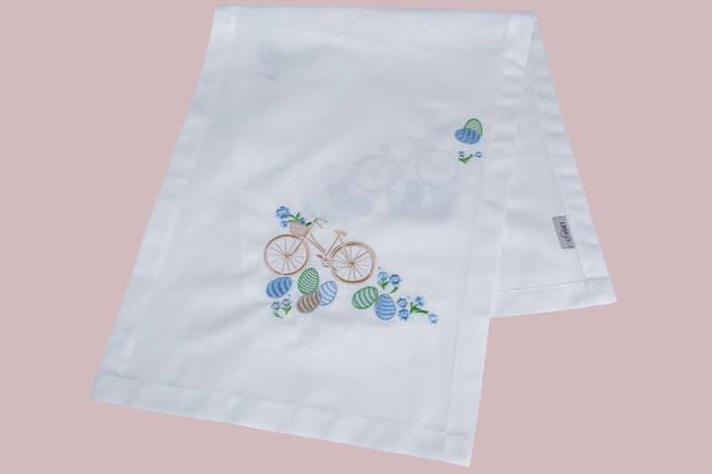 Дорожка на стол белая с вышивкой пасхальная вышитый наперон раннер 40x100 см, фото 2