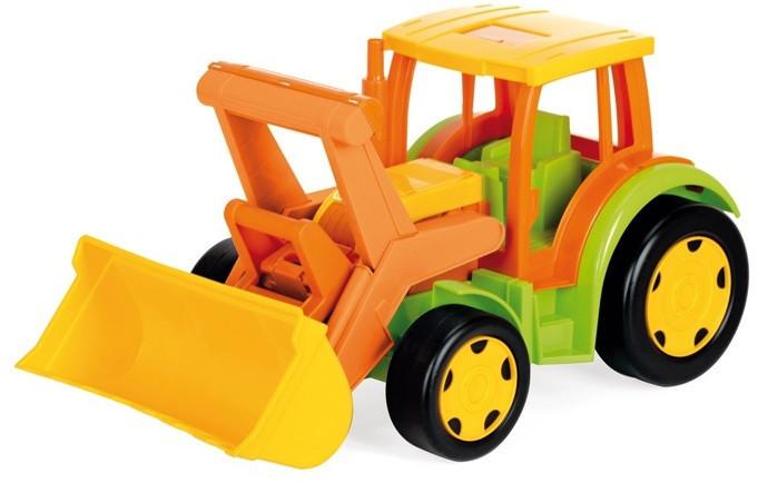 Большой игрушечный трактор Гигант с ковшом (без картона) Wader 66005