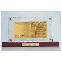 Золотая купюра 500 EURO настольная акриловая GOLDEN (059 HB)