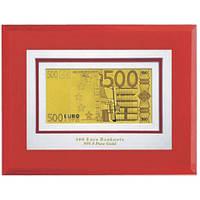 Золотая купюра 500 EURO 1-сторонняя в рамке GOLDEN (045 HB)