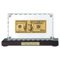 Золотая купюра 100 $ настольная акриловая GOLDEN (079 HB)