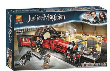 """Конструктор Bela 11006 """"Хогвартс-Экспресс"""" (аналог Lego Harry Potter 75955), 832 детали"""