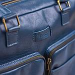 Сумка мужская из натуральной кожи Конг VS014  blue, 30х34х13, фото 9