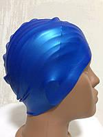 Шапочка силиконовая для бассейна синяя