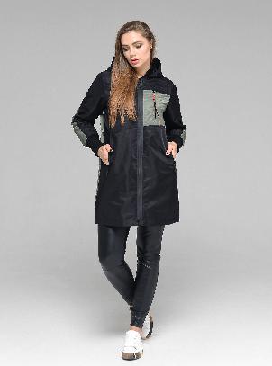 Легкая женская демисезонная курточка CW19C515CW черный + хаки (#701) - новая коллекция CLASNA, размер M, фото 2
