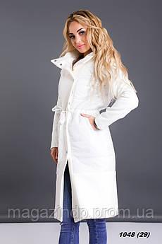 Пальто плащевка+кашемир весеннее 1048 (29) Код:758901562