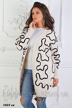 Кардиган женский шерсть с 46 по 56 размер 1023 СВ Код:758943670