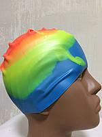 Шапочка силиконовая для бассейна цветная 3