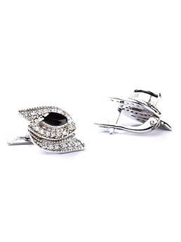 Серьги серебряные с ониксом