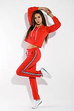 Костюм спортивный (толстовка, штаны) 95P8025 (Красный)