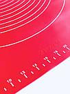 Силиконовый коврик для выпечки антипригарный, большой 48*38 (ярко коралловый), фото 4