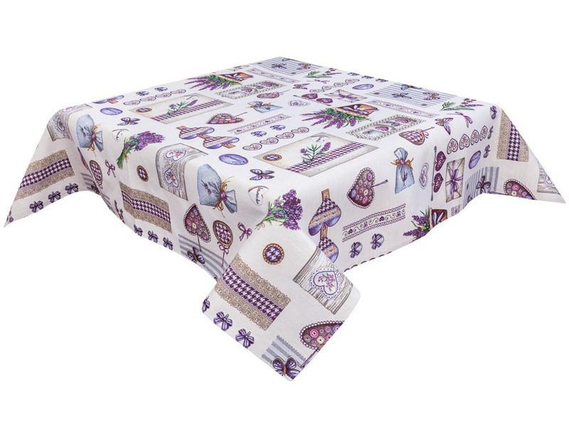 Скатерть тканевая гобеленовая пасхальная квадратная 137 х 137 см