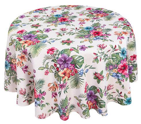 Скатерть тканевая гобеленовая пасхальная круглая Ø240 см на круглый стол, фото 2