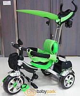 Детский трехколесный велосипед Lexus Trike KR 01. Зеленый. Надувные колеса