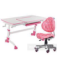 Комплект подростковая парта Amare Pink + компьютерное кресло SST5 Pink FunDesk