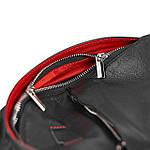 Рюкзак Cross-body из натуральной кожи Конг VS024 Унисекс black, 32х20х7, фото 4