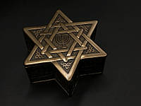 Коллекционная шкатулка Veronese Звезда Давида 76557A1