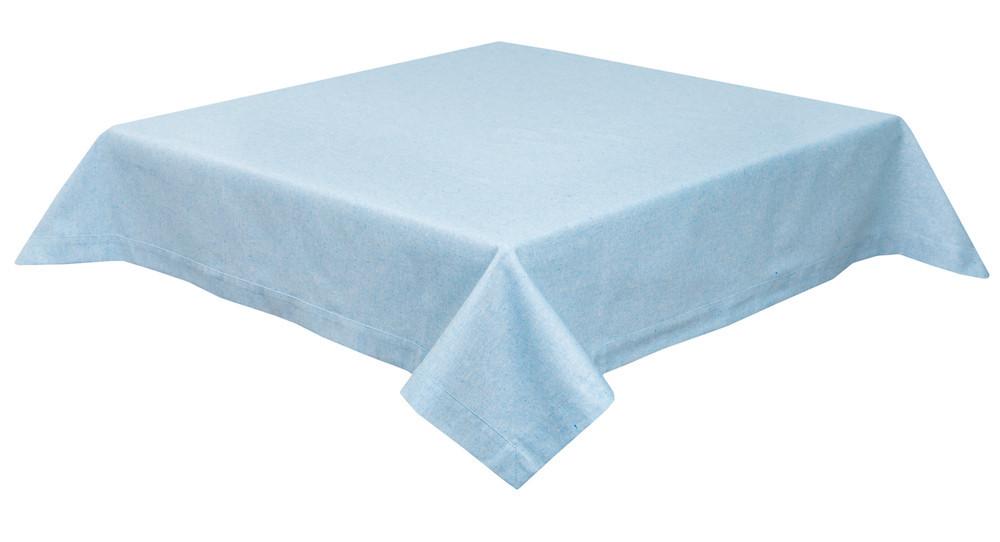 Скатерть тканевая пасхальная полиэстер голубая 130 x 280 см