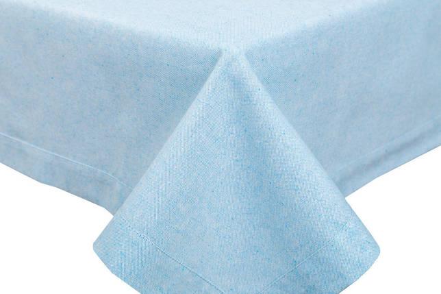 Скатерть тканевая пасхальная полиэстер голубая 130 x 280 см, фото 2