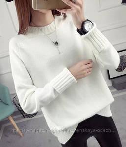 Модный свитер женский разных расцветок, размер универсальный 42-46