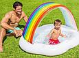 Детский надувной бассейн Intex 57141 «Радуга-Облако», 142 х 119 х 84 см, с навесом, фото 3