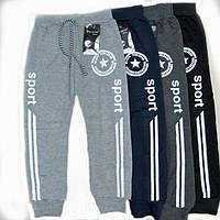 Спортивные штаны детские Адидас 7-8 лет светло-серый ХЛ, фото 1