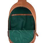 Рюкзак Cross-body из натуральной кожи Конг VS024 Унисекс dark red, 32х20х7, фото 2