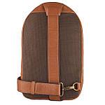 Рюкзак Cross-body из натуральной кожи Конг VS024 Унисекс dark red, 32х20х7, фото 3
