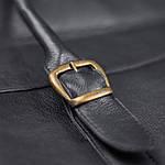 Сумка портфель из натуральной кожи Конг, унисекс VS025 black, 42х32х10, фото 4