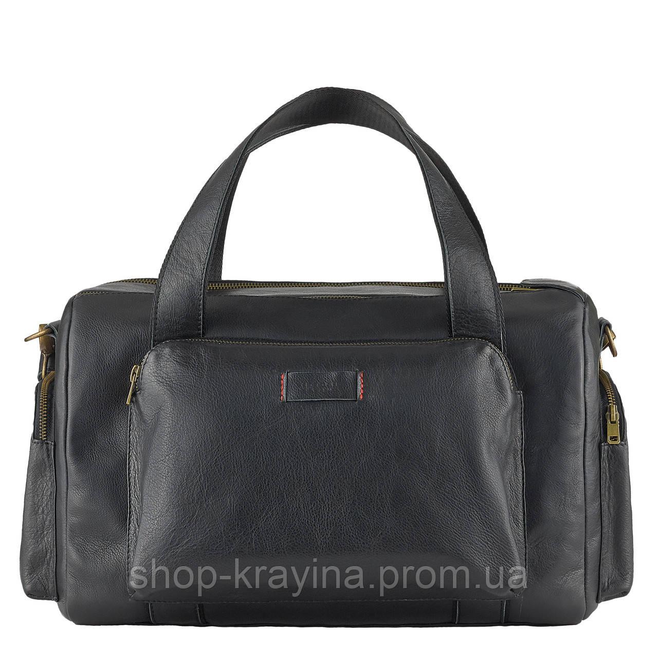 Дорожная сумка  из натуральной кожи VStb black