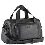 Дорожная сумка  из натуральной кожи VStb black, фото 4