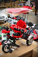 Детский трехколесный велосипед Lexus Trike KR-01-A. Красный. Надувные колеса
