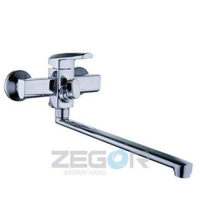 Смеситель ZEGOR ванная длинный евро NOF7-А033