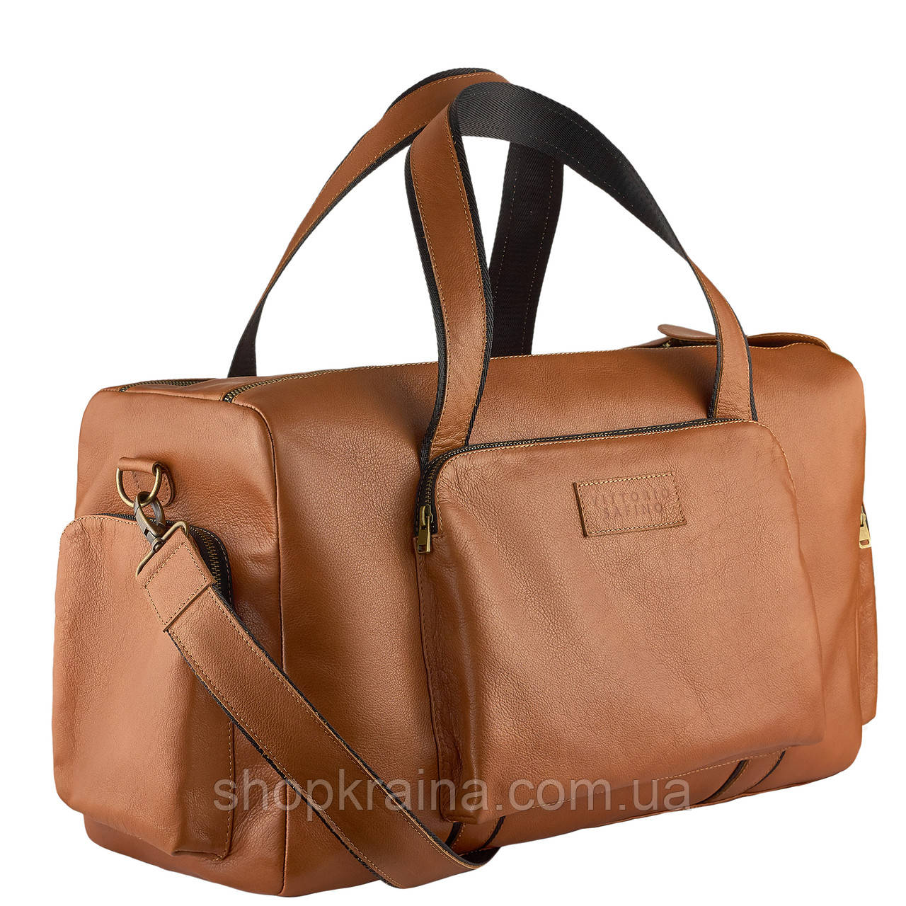 Дорожная сумка  из натуральной кожи VStb dark red