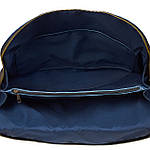 Сумка портфель из натуральной кожи Конг унисекс VS025 blue, 42х32х10, фото 4
