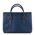 Сумка портфель из натуральной кожи Конг унисекс VS025 blue, 42х32х10, фото 2