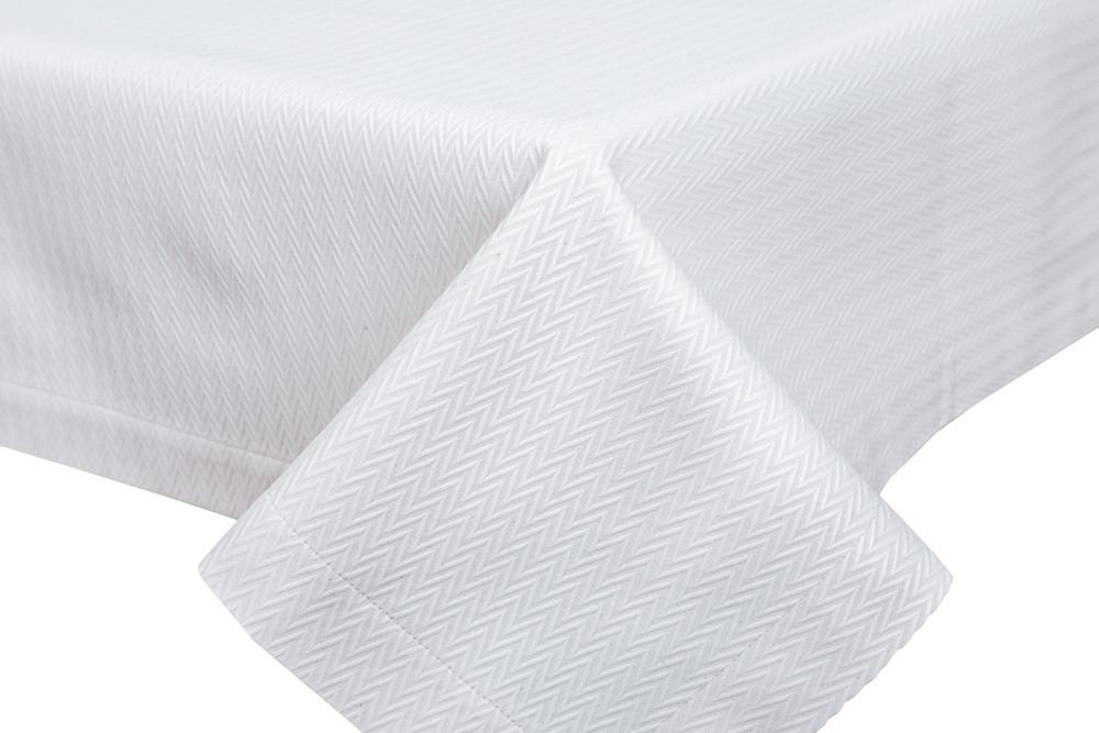 Скатерть тканевая белая полиэстер 135 x 280 см