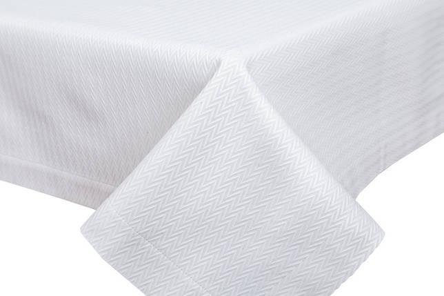 Скатерть тканевая белая полиэстер 135 x 280 см, фото 2