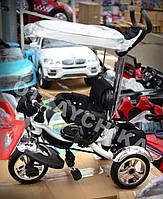 Детский трехколесный велосипед Lexus Trike KR-01-A. Черно-белый. Надувные колеса