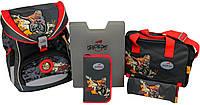 Ортопедический рюкзак DerDieDas Ergoflex XL с наполнением Dino on the Road Динозавр 406032